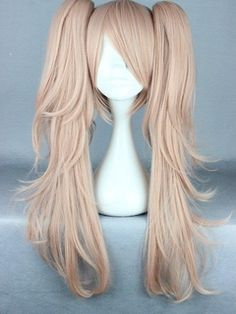 Japanese Dangan-Ronpa 2 Series Long Wave Taro Color Cosplay Wigs 26 Inches