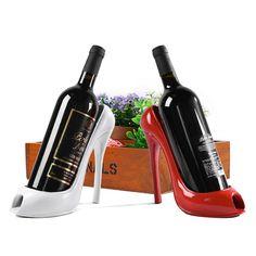 High Heel Shoe Wine Bottle Holder Stylish Rack Gift Basket Accessories Home #Affiliate