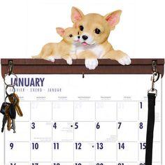 Chihuahua Calendar Caddy & Leash Hook