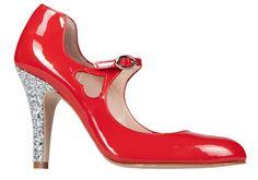 Minna Parikka Starlet Red Glitter Heel