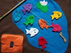 Fishing Hole Craft shows how to make the game, fish, pole and wrap it would be a great gift!