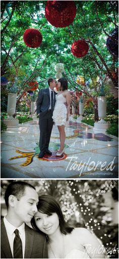 Photos in the atrium at Wynn Las Vegas | Super Tiny Secret Ceremony {Wynn Las Vegas} | Photo: @McKenzi Taylor [Taylored Photo Memories]