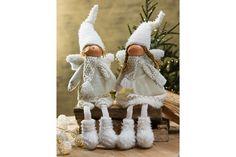 Englegutt og englejente fra Skeidar Girls Dresses, Flower Girl Dresses, Christmas Ornaments, Holiday Decor, Wedding Dresses, Flowers, Home Decor, Dresses Of Girls, Bride Dresses