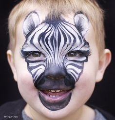 Inspiring Children's Makeup For Halloween by Christy Lewis is part of Face painting Pintacaritas - Check out this inspiring Children's Makeup For Halloween by New Zealand artist Christy Lewis and her Daizy Design Face Painting Adorable animals and Face Painting Designs, Paint Designs, Body Painting, Funny Animal Faces, Funny Faces, Zebra Face Paint, Horse Face Paint, Childrens Makeup, Animal Face Paintings