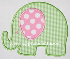 sweet little elephant appliqué...cute for girl or boy