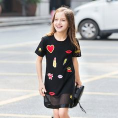27.28$  Watch here - http://alioz2.shopchina.info/go.php?t=32609895761 - Makeup Clothes for Teen Girls Baby Child Cotton Frock Designs Clothing Girl Kids Dress For Age 5 6 7 8 9 10 11 12 13 14 15 Years  #buyininternet