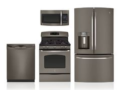 GE Slate Appliances for our kitchen - 30' oven 46 7/8 H x 29 7/8 W x 27 3/4 D, fridge dimensions: 69 7/8 H x 35 3/4 W x 36 1/4 D, microwave 30in 16 1/2 H x 29 7/8 W x 15 1/4 D,  built-in dishwasher - hidden controls: 34 H x 24 W x 24 3/4 D