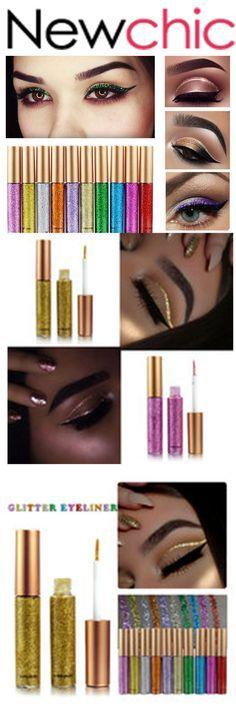 US$5.59  [Free Shipping] 10 options HANDAIYAN Glitter Eyeliner Liquid Makeup Eyes Liner Waterproof Shinning Diamond Pigmented#beauty#gift#giftidea#thanksgiving#Christmasgifts