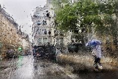 Paris, France by Christophe Jacrot. Photographer Christophe Jacrot loves taking photos of travel destinations in the rain. Check out his unique lens on the beauty of showers in this Place Time BN Daily Fix. Rainy Day Photography, Rain Photography, Creative Photography, Street Photography, Photography Ideas, Christophe Jacrot, Rain Pictures, Rainy City, Sound Of Rain