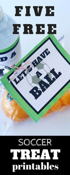 Need a quick treat for your little soccer star's next game? Make all the other soccer moms jealous with these adorable, free, printable, treat and drink labels! All the kids on the team will worship you like a rock star! The coach may even forgive you for that time when your kid sat down in the middle of the field during a soccer game!