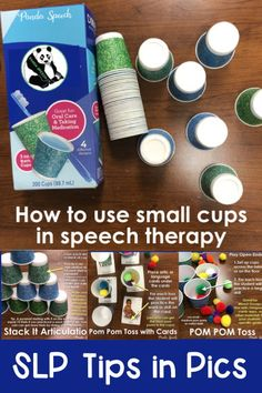 How to Use Small Paper Cups in Speech Therapy Speech Therapy Activities, Speech Language Pathology, Speech And Language, Articulation Activities, Language Activities, Motivational Activities, Calming Activities, Speech Room, Being Used