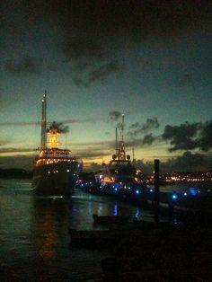 After sundown at Yacht Haven Grande, St. Thomas, USVI