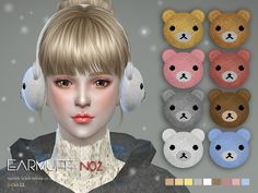 The Sims Resource: Earmuff N02 by S-Club • Sims 4 Downloads