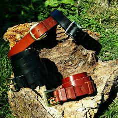 Leather belt. Hand made. Bacau - Romania