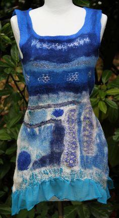 Felt tunic Textiles, Apron, Creations, Silk, Etsy, Fashion, Felt, Tunic, Moda