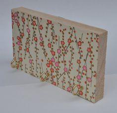 Cherry Blossoms Key Hook Jewelry Holder by blinchikberlinfaktur