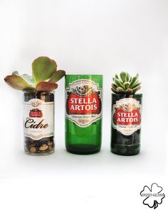 Beer Bottle Cups, Stella Artois, Drinks, Glass, Shop, Etsy, Drinkware, Corning Glass, Yuri