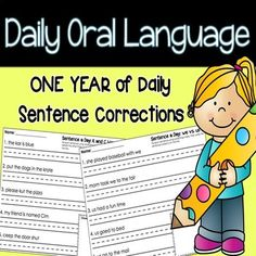 Daily Oral Language: One Year of Daily Sentence Writing Y Words, Number Words, Daily Oral Language, Language Arts, Writing Lessons, Writing Practice, Phonics Rules, Blends And Digraphs, Synonyms And Antonyms