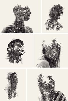 everywhere art: Photography Fad: Double Exposure Portraits