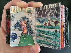 mini journal #6 - by bun - artist: Roxanne Coble