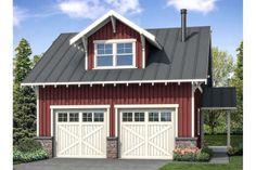 Craftsman Plan: 838 Square Feet, 1 Bathroom - 035-00857 2 Car Garage Plans, Garage Plans With Loft, Garage Apartment Plans, Garage Apartments, Detached Garage Plans, Toy Garage, Garage Workbench, Basement Apartment, Garage House