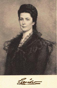 "Elisabeth Amalie Eugenie ""Sissi"" (1837-assassinated 1898) wife of Emperor Franz Joseph I Austria"