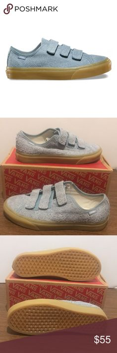 80cd300712dbc0 Shop Women s Vans Blue size 9 Shoes at a discounted price at Poshmark.  Description  Vans Style 23 V Fuzzy Suede Arona.