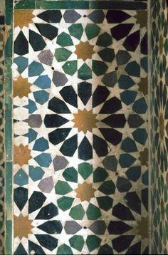 Beautiful mozaik in Alhambra, Granada Spain
