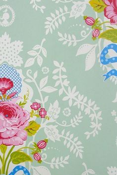 PiP Shabby Chic Green wallpaper | Traditional 2 | Wallpaper | PiP Studio
