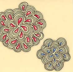 """Here are five more of my favorite tangles. This one is called """"Floral Waves"""" and you'll find the pattern and a few video links HERE at P..."""
