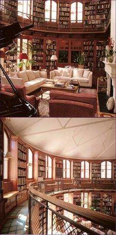 Personal library in your own home. Lights streaming out the window. Free space for you to enjoy a good story.