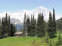 This is the definitive list of cabins in remote locations. If you want to build a cabin, look here for some design inspiration. Time Travel, Places To Travel, Places To Go, Travel Destinations, Mt Rainier National Park, Little Cabin, Cabins And Cottages, Cabins In The Woods, Historical Sites