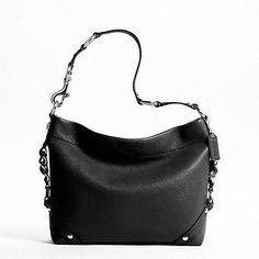 e22915322c6f Low-cost Authentic Coach Pebbled Leather Chain Side Carly Hobo Handbag 15251  Black Buy Online Do you think you re checking out inexpensiv.