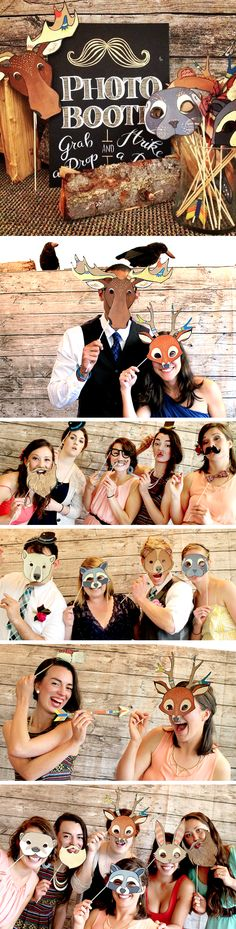 Handmade Woodland/Alaskan photo booth. Alaskan wedding.