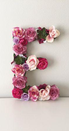 Gran carta Floral flor personalizada carta monograma de la