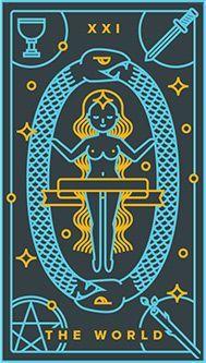 The World Tarot card.