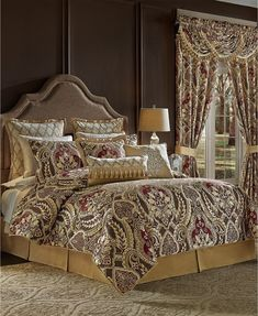 Furniture For Small Spaces, Furniture Sets, Damask Bedding, Croscill Bedding, Queen Comforter Sets, Bedding Sets, Outdoor Lounge Furniture, Bed Styling, Comforters