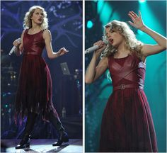Speak Now World Tour | Haunted | [7/9] Susan Hilferty custom dress This is one of my favourite tour outfits Taylor has ever worn. As you can see from these pictures, there's a small glimpse of a sparkly strap beneath this costume. That's the strap of...