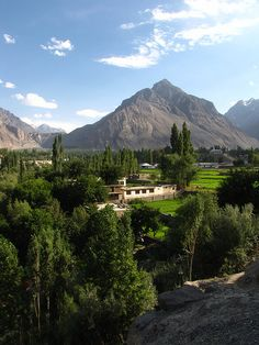 Skardu, Pakistan.  Skardu, is the main town of the region Baltistan and capital of Skardu District, one of the districts making up Pakistan's Gilgit–Baltistan.  It is located in the Skardu Valley, at the confluence of the Indus river and the Shigar River. Skardu is situated at an altitude of nearly 8,200 ft. The town is surrounded by grey-brown coloured mountains, which hide the 8,000 metre peaks of the nearby Karakoram range.