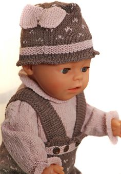 Dolls clothes knitting patterns - a charming and comfortable outfit for you doll Baby Born, Comfortable Outfits, Baby Knitting, Baby Dolls, Doll Clothes, Knitting Patterns, Winter Hats, Crochet Hats, Crafts