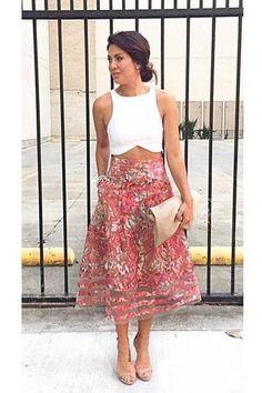 Instagram Inspired: Anthropologie's Strawberry Hill Skirt - Topista