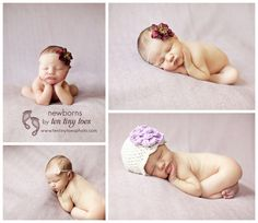 newborn baby girl rocking the purple