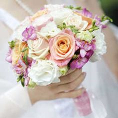 Light Shades Wedding Bouquet - Buy Online in Hartford Flower Shop Cream Roses, Blush Roses, Classic Wedding Themes, Wedding Ideas, Spring Wedding, Dream Wedding, Pastel Bouquet, Rosa Rose, Order Flowers