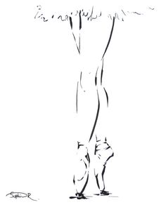 An art print for those who love ballet!  Simple black and white line drawing by CanotStopPrints on Etsy. @sophierodionov