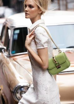 The Store: Summer in the city calls for the perfect LWD and pistachio-colored handbag ~ Valentino, spring 2012 Street Chic, Street Style, Streetwear, Carrie Bradshaw, All About Fashion, Beautiful Bags, Casual, What To Wear, Style Me
