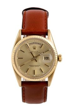 """Vintage Rolex Men's Day Date """"Presidential"""" Yellow Gold Watch -- I want this one for myself!"""