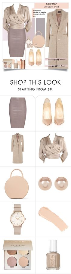 """Be yourself"" by pelagianath ❤ liked on Polyvore featuring Jitrois, Christian Louboutin, Yves Saint Laurent, Mansur Gavriel, Nordstrom Rack, ROSEFIELD, La Mer, Essie and Charlotte Tilbury"