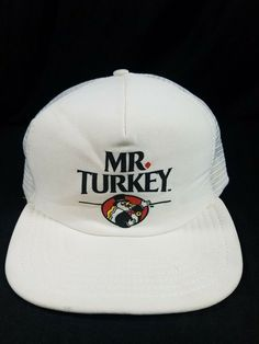 7fa172500ea VTG Mr Turkey Hat White USA Made Osterman Snapback Trucker Mesh Cap   OstermanAPI  TruckerHat