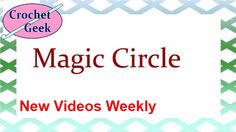 How to make Crochet #Magic Circle - Crochet for Beginners. The magic circle is a basic crochet technique…