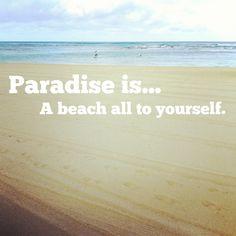 A beach all to yourself. #paradiseis #Hawaii